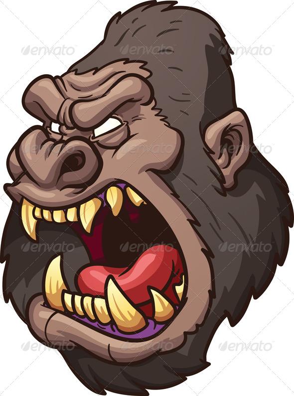 GraphicRiver Angry Gorilla Head 7639352