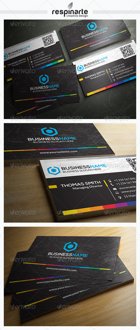 GraphicRiver Corporate Business Card RA21 7639531