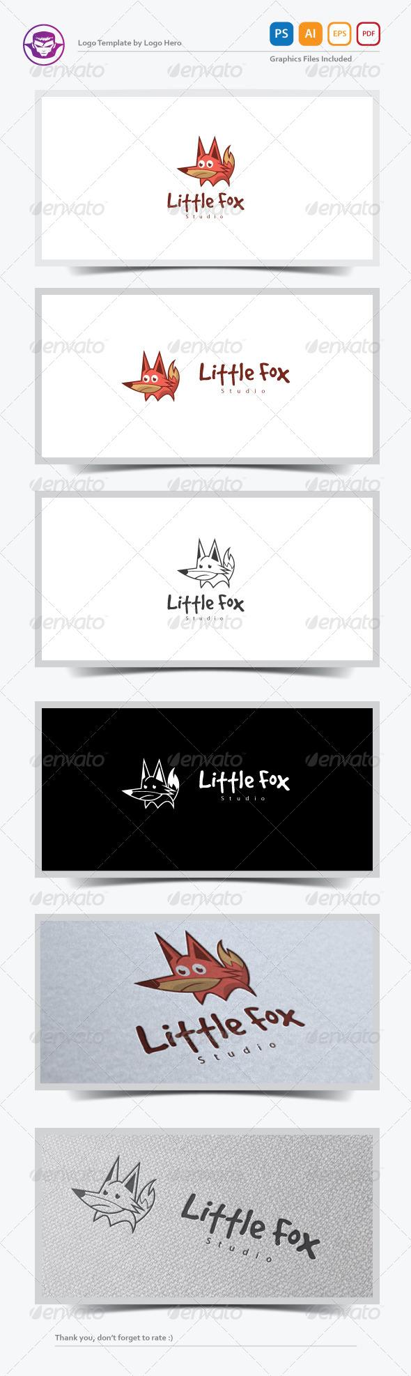 Little Fox Logo Template