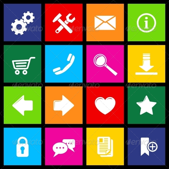 GraphicRiver Website Icons Metro 7640095