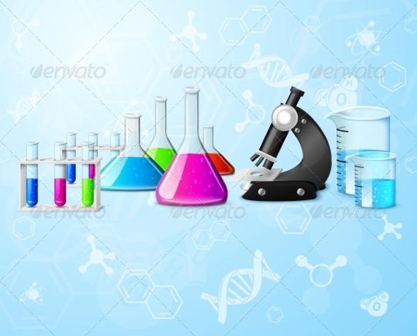 GraphicRiver Scientific Laboratory Background 7640096