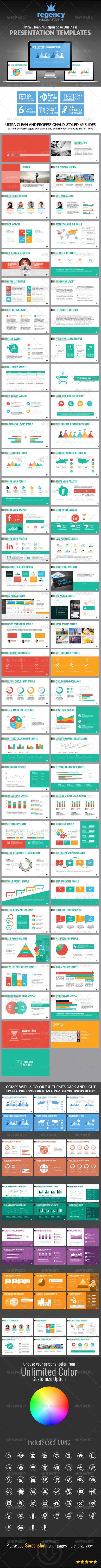 GraphicRiver Clean Multipurpose Business Presentation Template 7640114