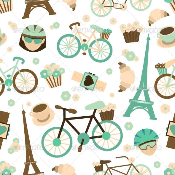 GraphicRiver Bicycle Seamless Pattern 7640108