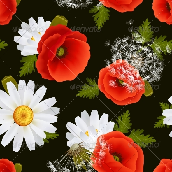 GraphicRiver Floral Seamless Pattern 7640116