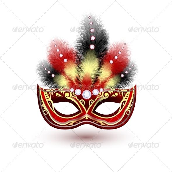 GraphicRiver Venetian Carnival Mask Emblem 7640129