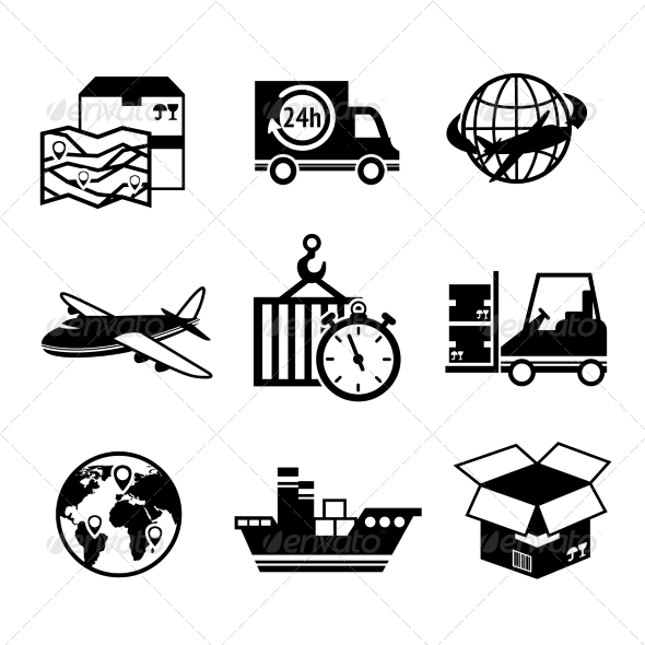 GraphicRiver Logistic Icons Set 7640131
