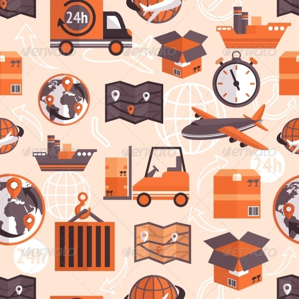 GraphicRiver Logistic Seamless Pattern 7640134
