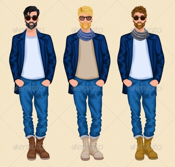 GraphicRiver Hipster Man Set 7640155