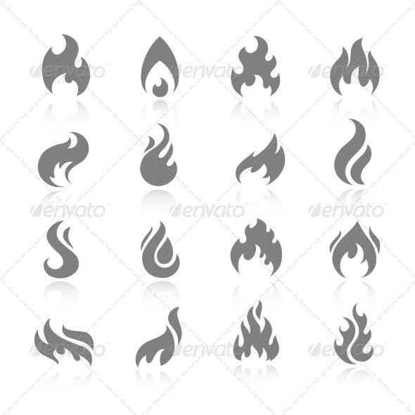 GraphicRiver Fire Icon Set 7640174