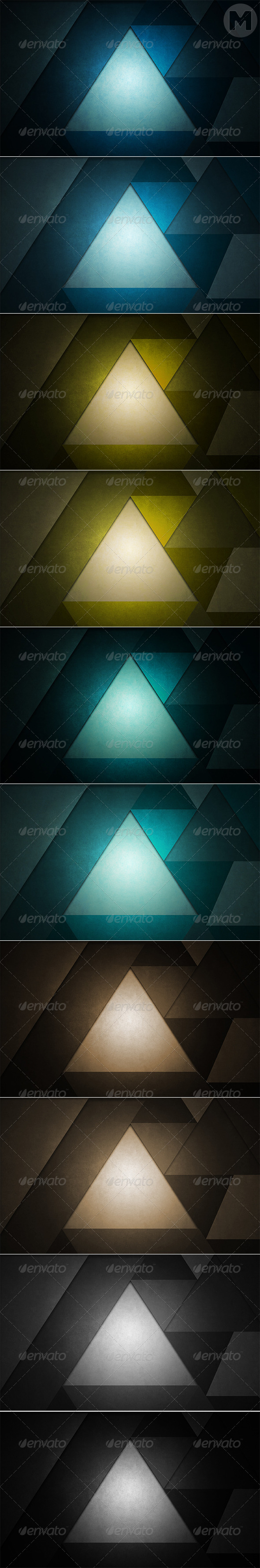 GraphicRiver Grunge Triangle Backgrounds 7640193