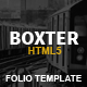 Boxter - Creative Responsive HTML5 Template - ThemeForest Item for Sale