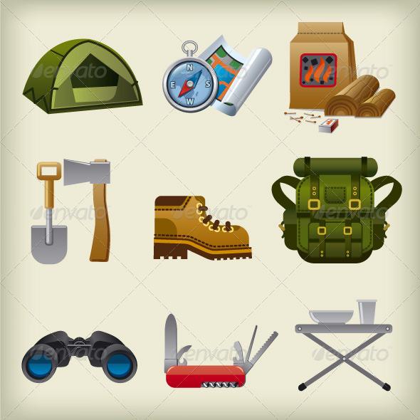 GraphicRiver Tourism Icon Set 7640263