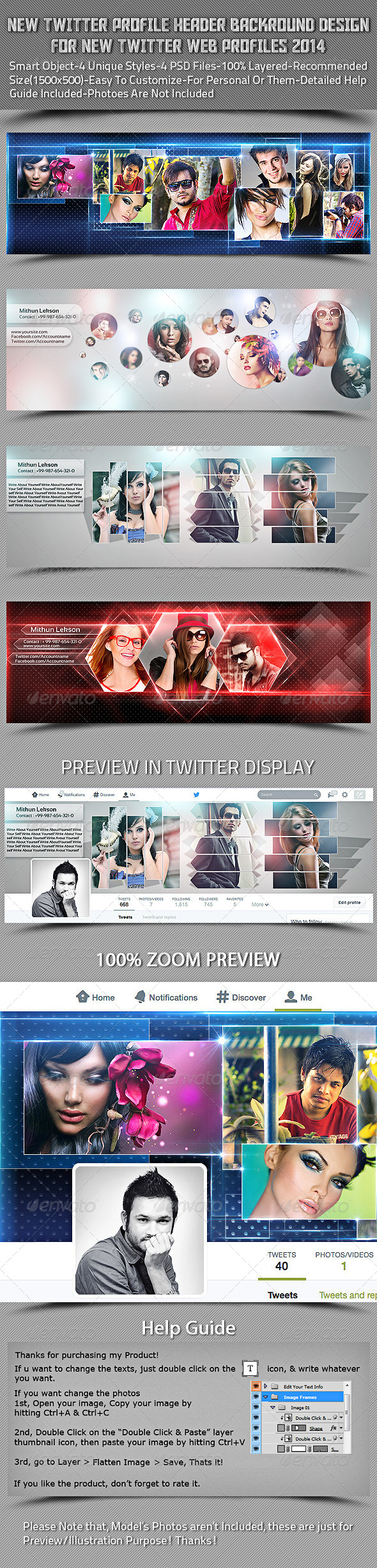 GraphicRiver New Twitter Profile Header Backround Design 7640288