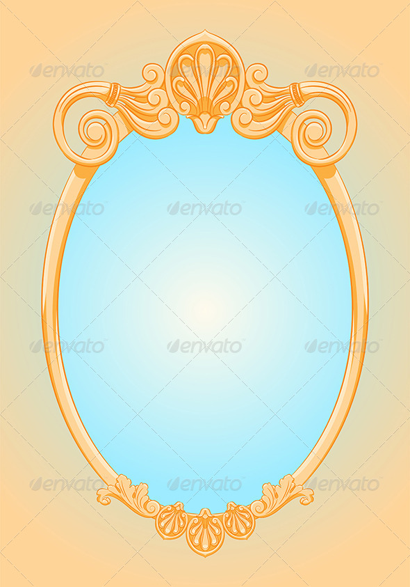 GraphicRiver Beautiful Ornate Ellipse Frame 7640292