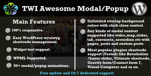 CodeCanyon TWI Awesome Modal Popup 7602885