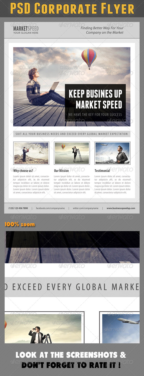 GraphicRiver Corporate Product Flyer 87 7640403