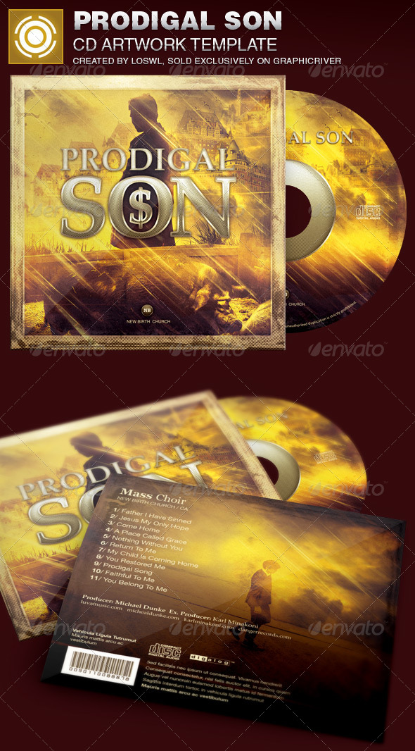 GraphicRiver Prodigal Son CD Artwork Template 7640409