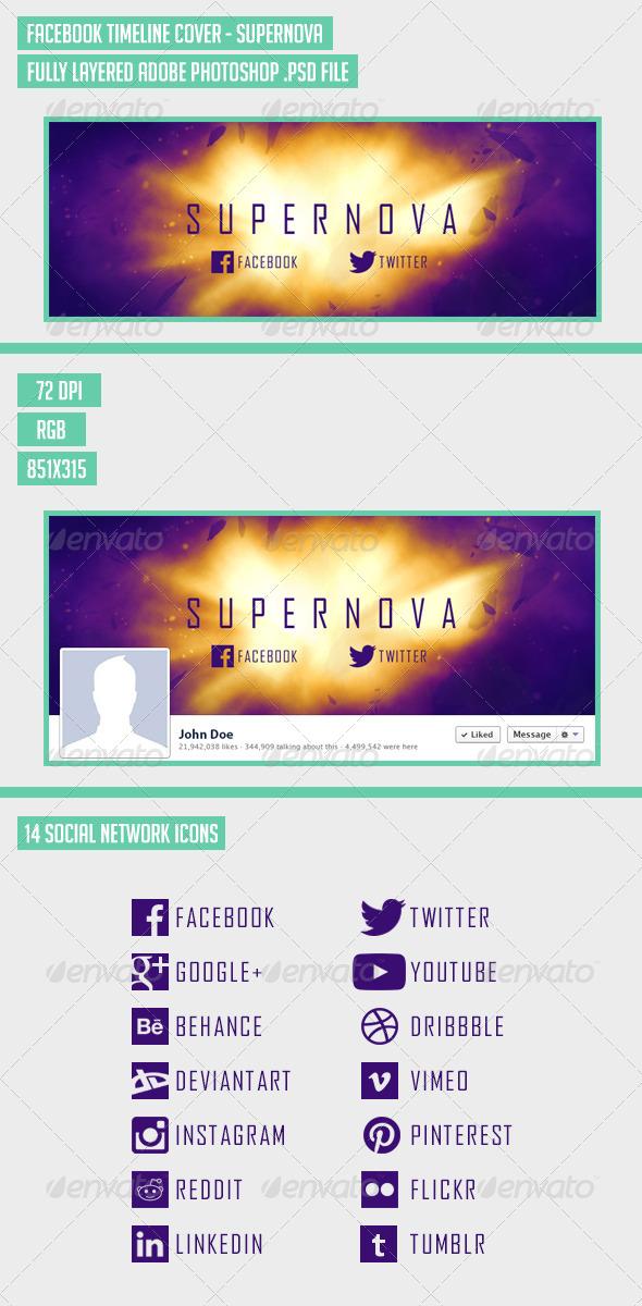 GraphicRiver Facebook Timeline Cover Supernova 7608922