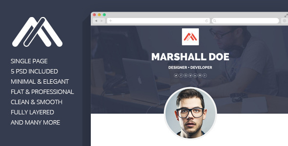 ThemeForest MD Resume PSD Template 7640505