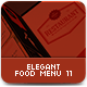 Elegant Food Menu 11 - GraphicRiver Item for Sale