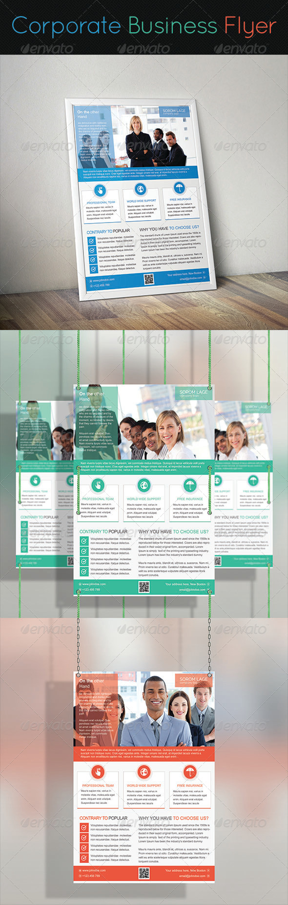 GraphicRiver Corporate Business Flyer 7640589