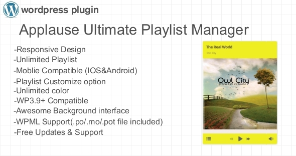 CodeCanyon Applause Ultimate Playlist Manager WP Plugin 7617517
