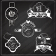 Bakery Emblems on Chalkboard - GraphicRiver Item for Sale