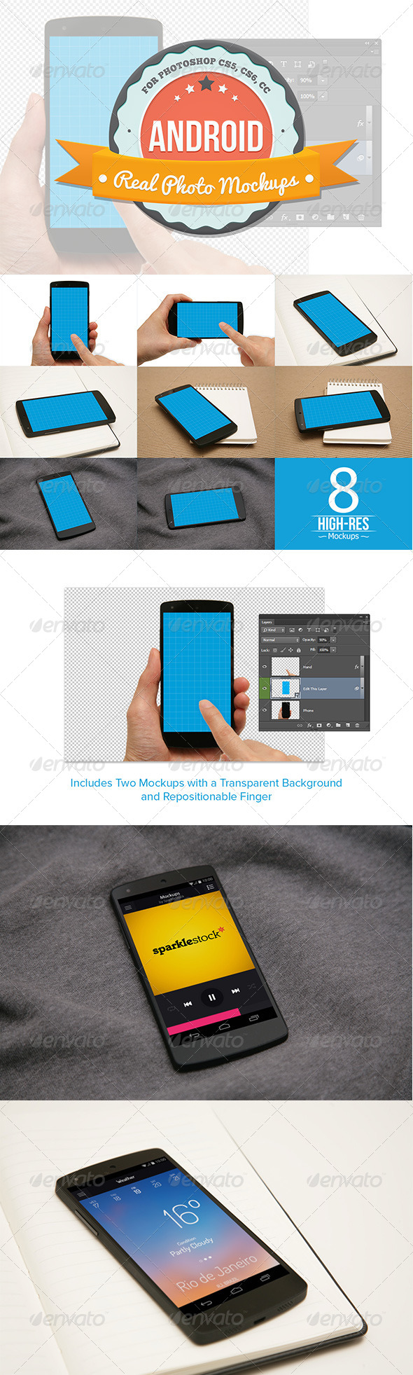 GraphicRiver 8 Android Mockups 7640900