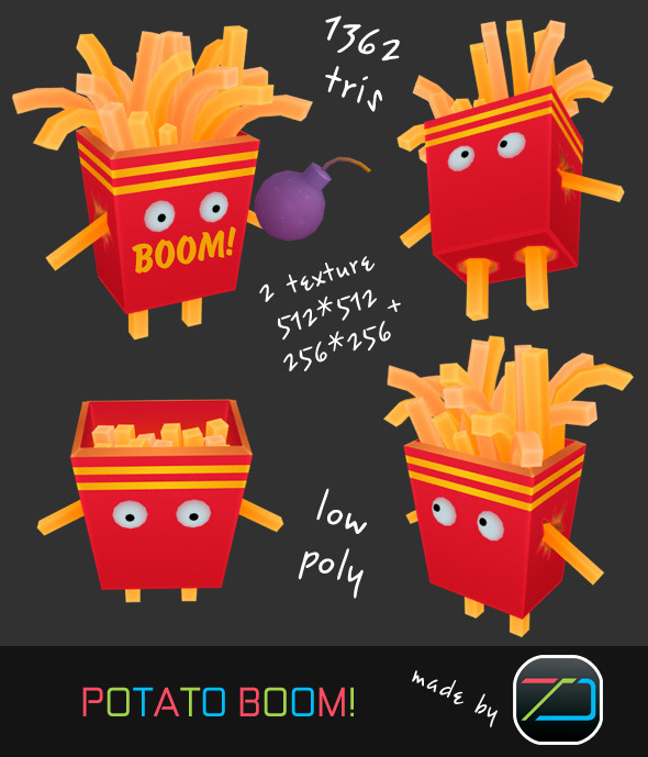 Potato Boom! - 3DOcean Item for Sale