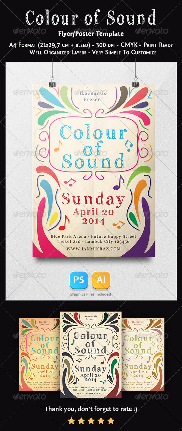 GraphicRiver Colour of Sound Flyer Templates 7641072