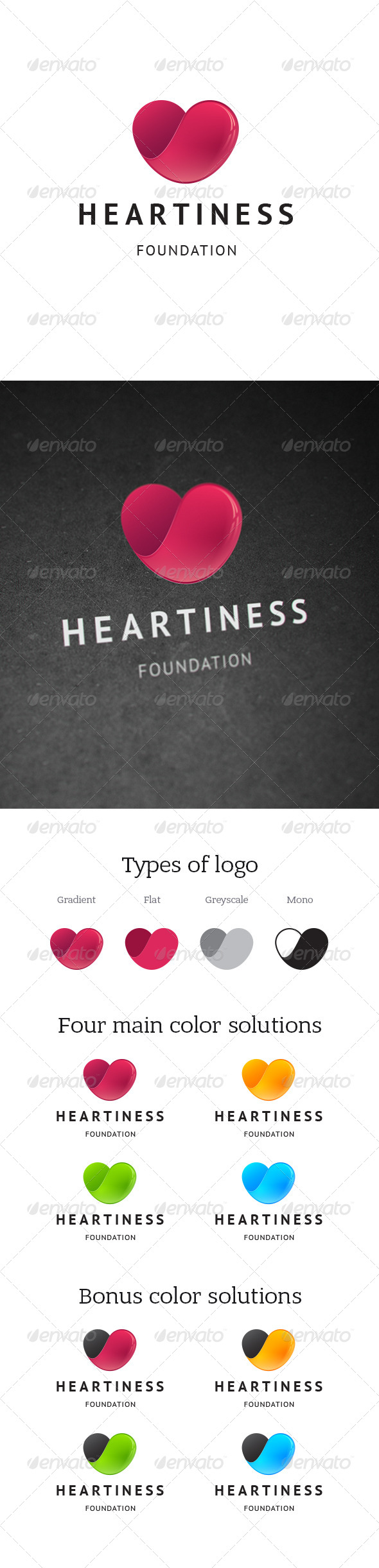 GraphicRiver Heartiness Charity Foundation Logo 7601210