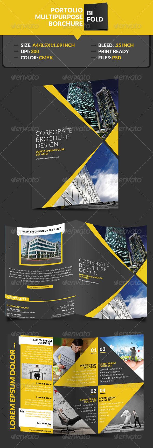 GraphicRiver Portolio Corporate Bi-Fold Brochure Template 7641540