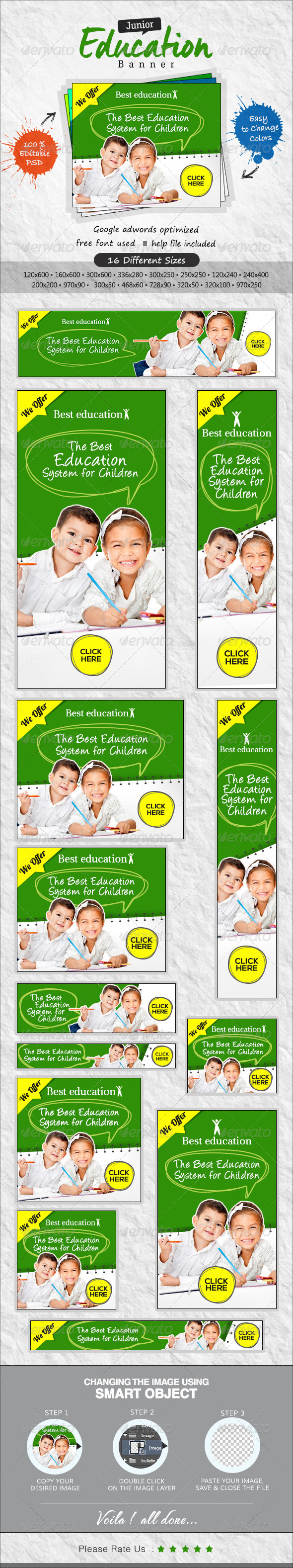 GraphicRiver Kids Education Banners 7641637