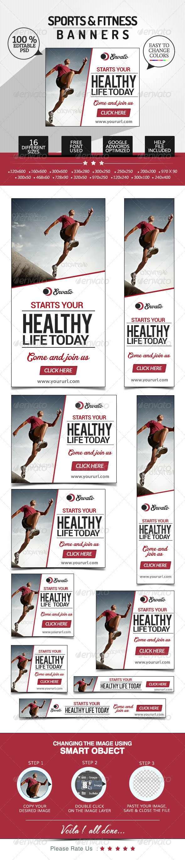 GraphicRiver Fitness & Sports Banners 7641638
