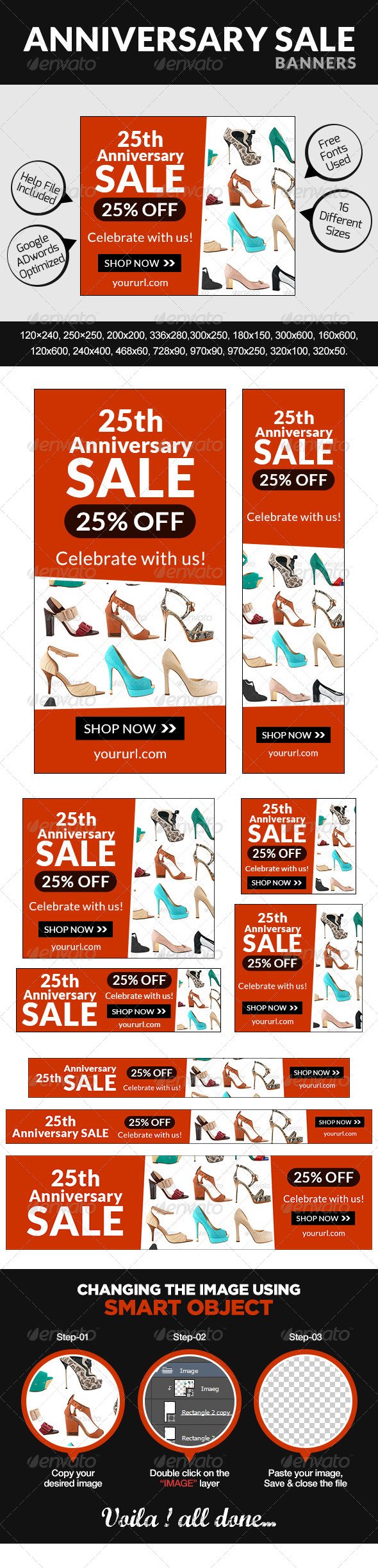 GraphicRiver Anniversary Sale Banners 7641717