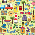 Seamless tropical vacation and travel pattern - PhotoDune Item for Sale
