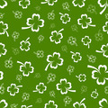 Shamrock vector seamless pattern - PhotoDune Item for Sale