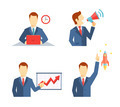 Set of businessman icons in flat style - PhotoDune Item for Sale