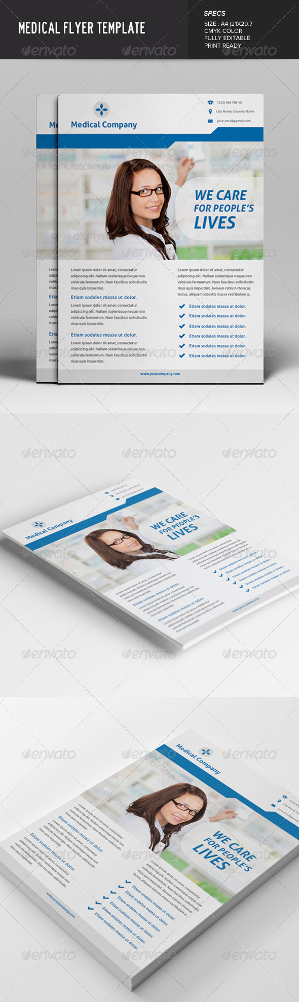GraphicRiver Medical Flyer 7641778