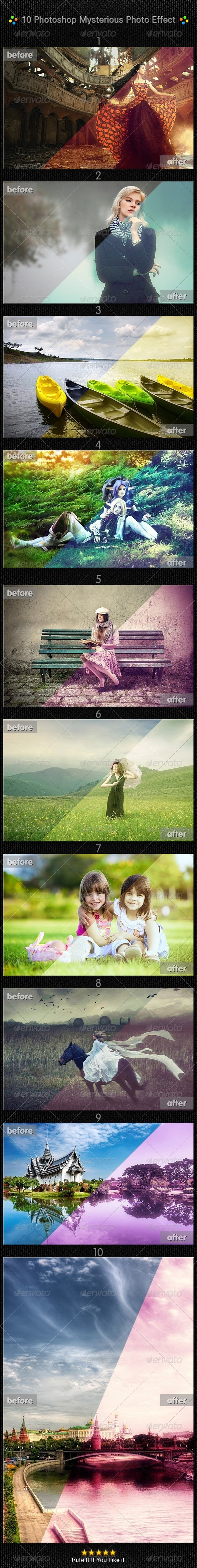 GraphicRiver 10 Photoshop Mysterious Photo Effect 7641952