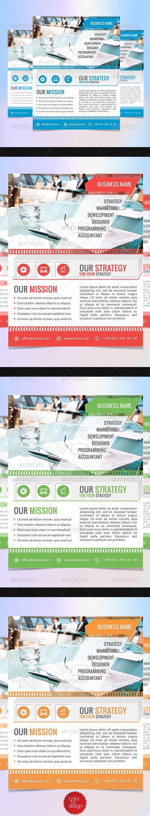 GraphicRiver Corporate Flyer Template 7642291