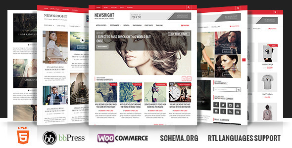 ThemeForest Newsright Wordpress Premium HD News & Magazine 7572045