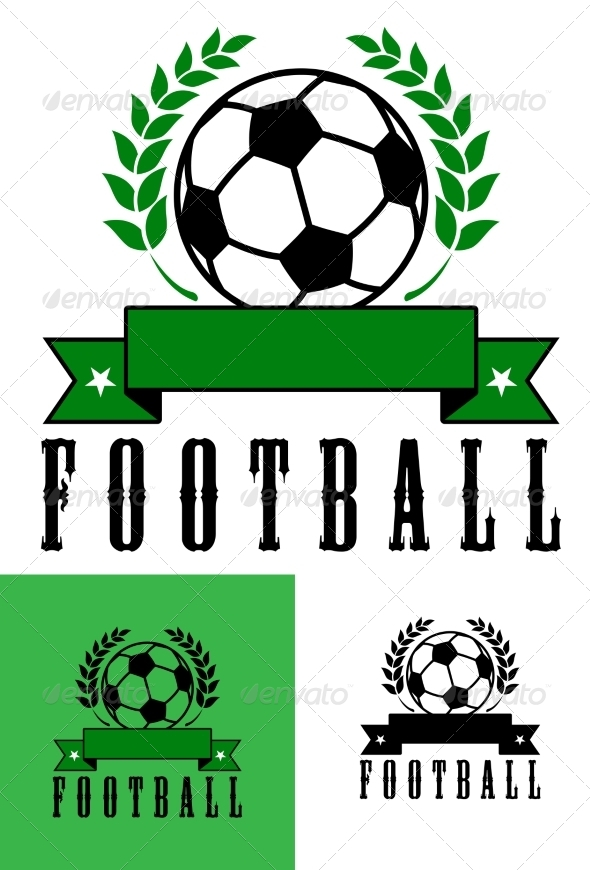 GraphicRiver Set of Football or Soccer Emblems 7642415