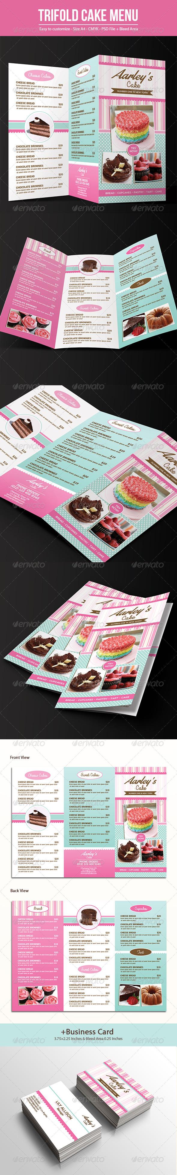 Trifold Cake Menu + Business Card