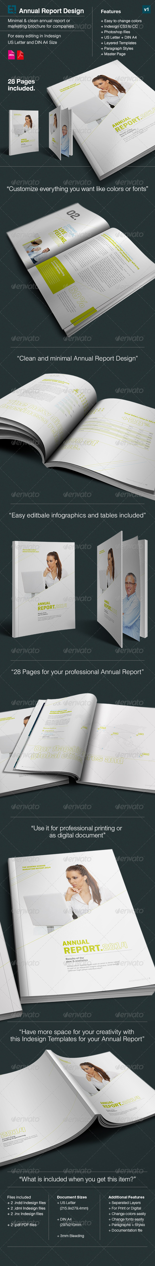 Annual Report xCross // A4 and US Letter Size - Corporate Brochures