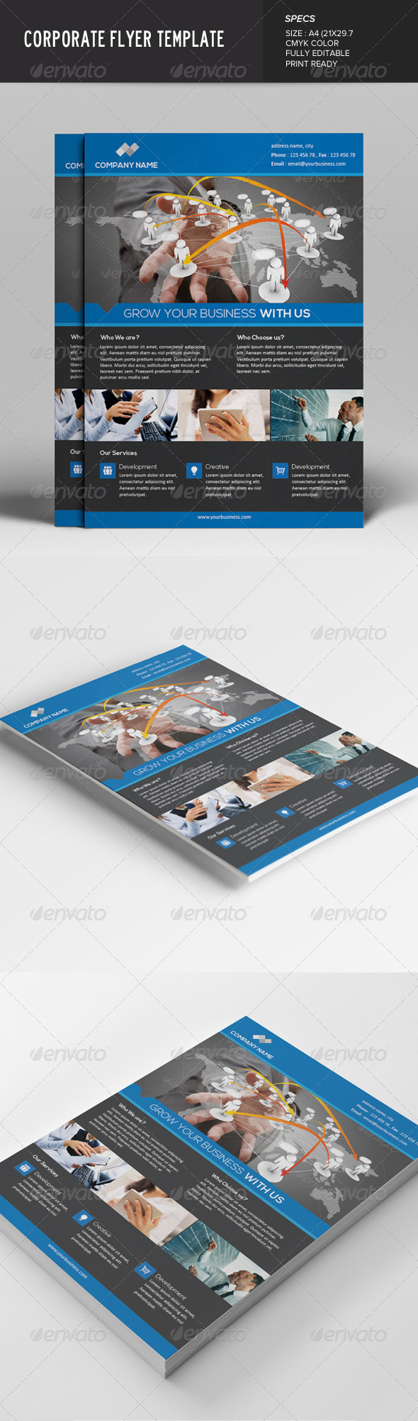 GraphicRiver Corporate Flyer Template 7642625