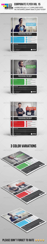 GraphicRiver Corporate Flyer Template Vol 15 7642650