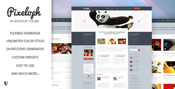 Pixeloph - Unique layout PSD Template