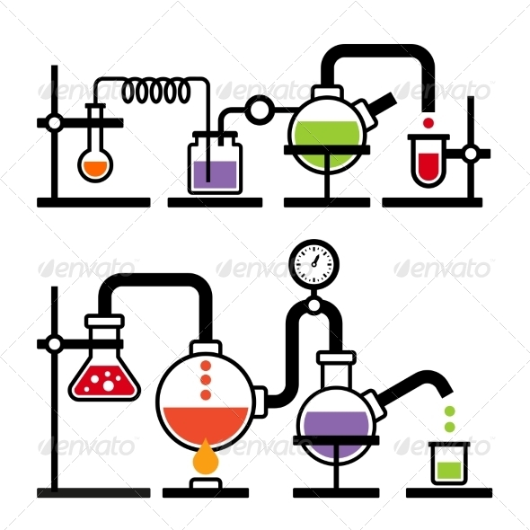 GraphicRiver Chemistry Laboratory Infographic 7642803