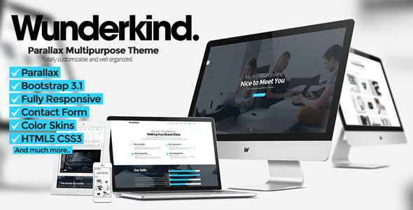 Wunderkind - One Page Parallax Theme - Creative Site Templates
